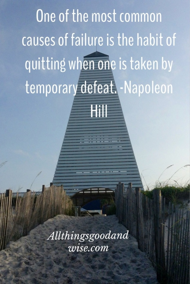 quitting, temporary defeat, michael hyatt, tony robbins, quitting time