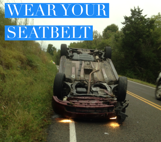 Wearing your seatbelt, airbag, accident